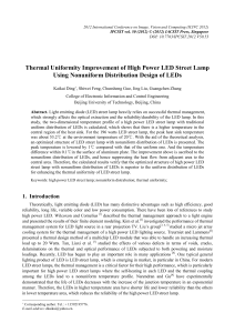 Thermal Uniformity Improvement of High Power LED Street Lamp