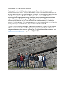 Geological field trip in the Northern Appenines