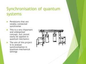 Synchronisation of quantum systems