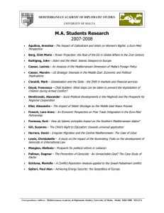 M.A. Students Research 2007-2008