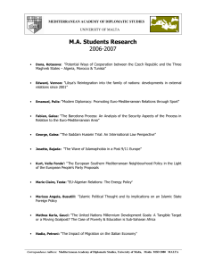 M.A. Students Research 2006-2007
