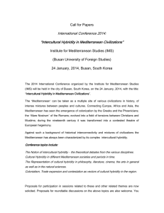 "International Conference 2014: """"""""IIIIntercultural Hybridity in Mediterranean Civilizations"