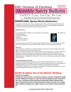 Monthly Safety Bulletin KSU Division of Facilities