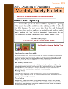 Monthly Safety Bulletin KSU Division of Facilities  NEWSFLASH: Lightning