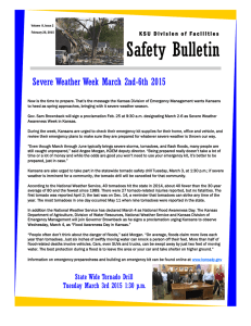 Safety Bulletin Severe Weather Week March 2nd-6th 2015