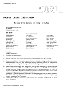 Course Units 2008‐2009  Course Units General Meeting - Minutes