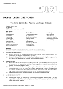 Course Units 2007‐2008  Teaching Committee Review Meetings - Minutes
