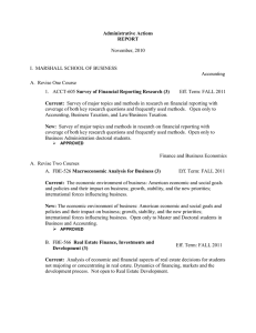 Administrative Actions REPORT  November, 2010