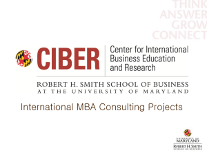 International MBA Consulting Projects