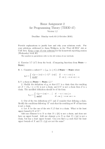 Home Assignment 2 for Programming Theory (TDDD 47)