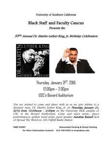 Black Staff and Faculty Caucus  Thursday, January 21 , 2016