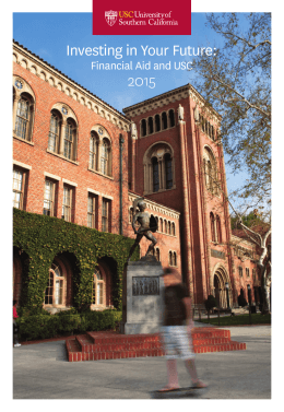 Investing in Your Future:  2015 Financial Aid and USC