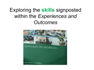 Exploring the signposted Experiences and skills