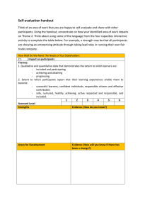 Self-evaluation handout