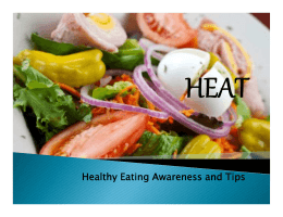 Healthy Eating Awareness and Tips
