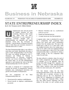 U STATE ENTREPRENEURSHIP INDEX