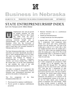 STATE ENTREPRENEURSHIP INDEX