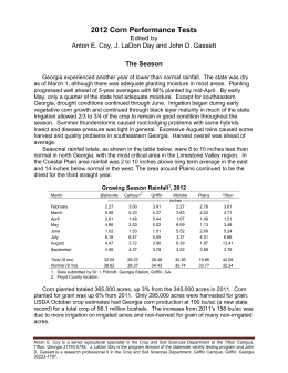 2012 Corn Performance Tests Edited by