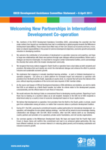 Welcoming New Partnerships in International Development Co-operation