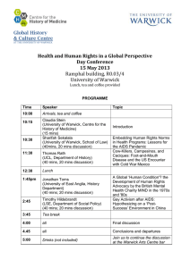Health and Human Rights in a Global Perspective Day Conference