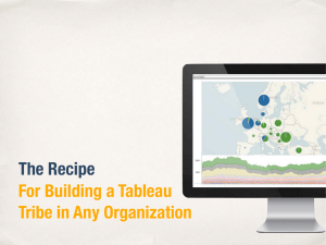 The Recipe For Building a Tableau Tribe in Any Organization
