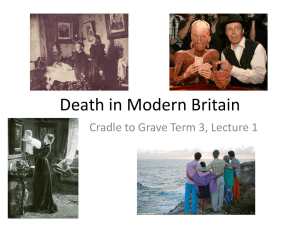 Death in Modern Britain Cradle to Grave Term 3, Lecture 1