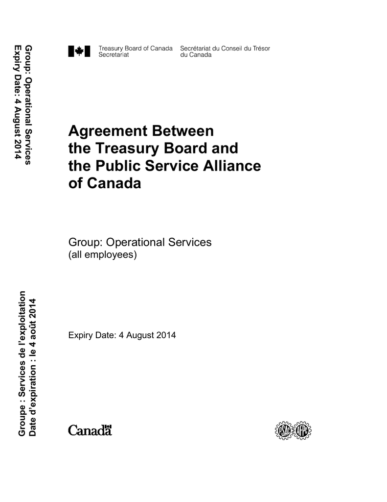 Calcul Salaire Net Québec >> Agreement Between The Treasury Board And The Public