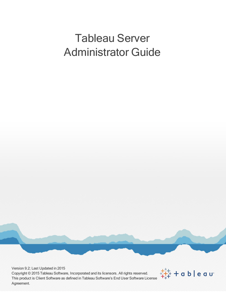 Tableau Server Administrator Guide