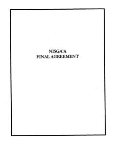 NISGA'A FINAL  AGREEMENT