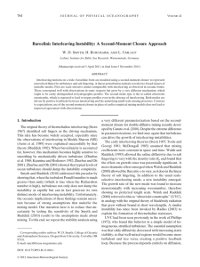 Baroclinic Interleaving Instability: A Second-Moment Closure Approach W. D. S ,