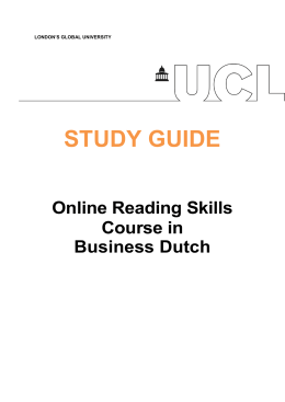 STUDY GUIDE  Online Reading Skills Course in