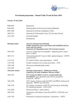 Provisional programme – Round Table 29 and 30 June 2010