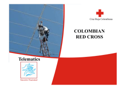 COLOMBIAN RED CROSS Telematics