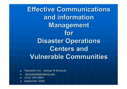 Effective Communications and information Management for