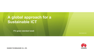 A global approach for a Sustainable ICT  ITU green standard week