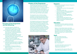 Mission of the Programme Research