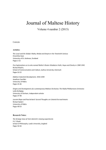 Journal of Maltese History  Volume 4 number 2 (2015)