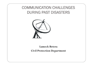 COMMUNICATION CHALLENGES DURING PAST DISASTERS