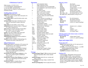 R Reference Card 2.0  Operators
