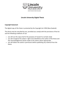 Lincoln University Digital Thesis