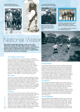 National Water Week 2004 was again a major event on... Waterwatch calendar. The theme 'Water for Life' encouraged