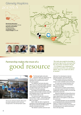 good resource 2007/08 Glenelg Hopkins Partnership makes the most of a