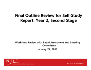 Final Outline Review for Self-Study Report: Year 2, Second Stage Committee