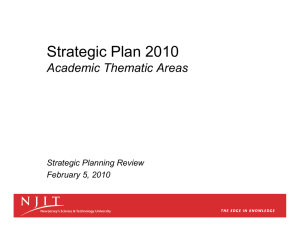 Strategic Plan 2010 Academic Thematic Areas Strategic Planning Review February 5, 2010