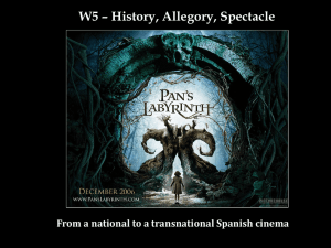 W5 – History, Allegory, Spectacle