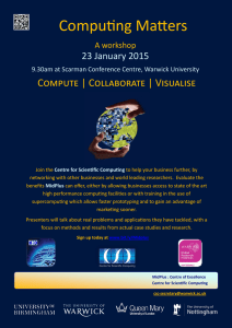 Computing Matters  Compute | Collaborate | Visualise 23 January 2015