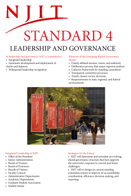 STANDARD 4 LEADERSHIP AND GOVERNANCE