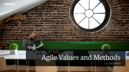 Agile Values and Methods LiU 20150918 !