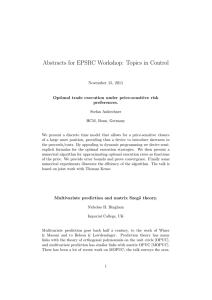 Abstracts for EPSRC Workshop: Topics in Control November 15, 2011 preferences.
