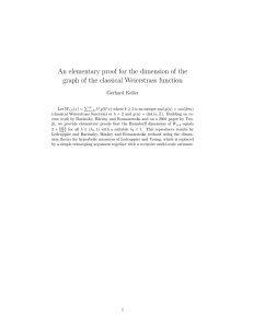 An elementary proof for the dimension of the Gerhard Keller